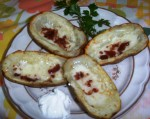 Gluten-Free Bacon-Cheese Potato Skins