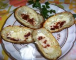 Potato Skins with Bacon and Monterey Jack