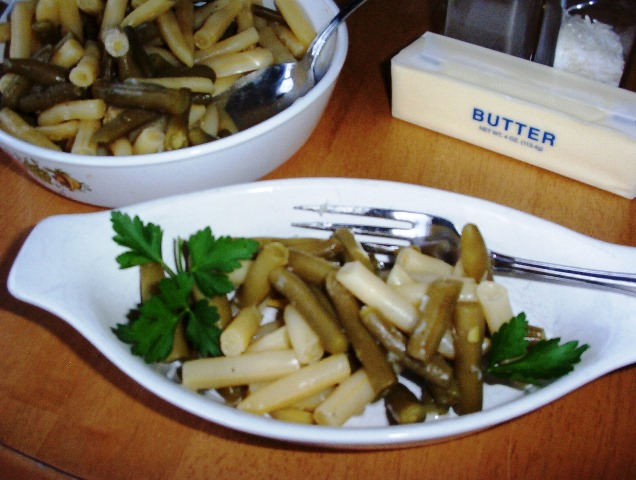Green and Yellow Beans with Butter
