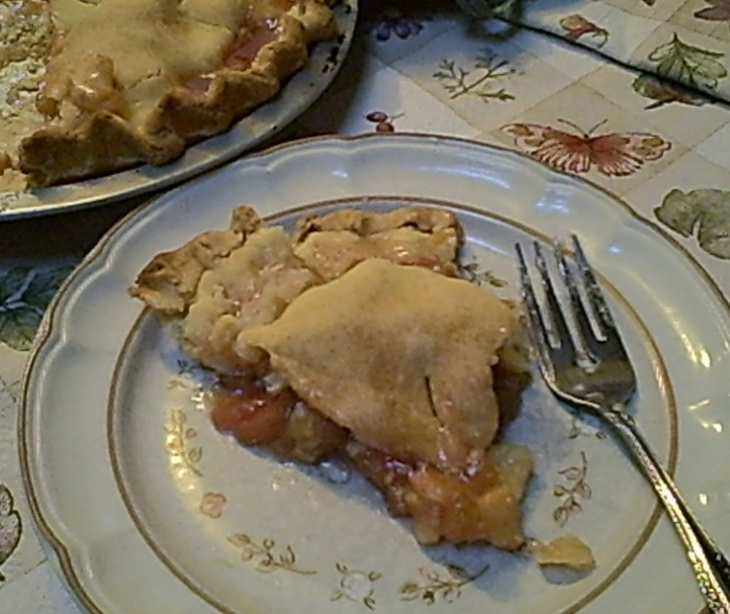 Gluten-Free Rhubarb Pie Sliced