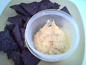Gluten-Free Hummus with Blue Corn Chips