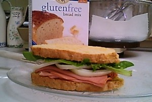 King Arthur Flour Gluten-free Bread Mix -The first bologna sandwich made with bread I baked using the new King Arthur glutenfree bread mix