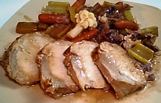 Boneless Pork Loin and Vegetables - Oven-Roasted