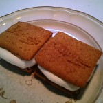 Gluten-free Somemores - Done in microwave, topped with remaining graham crackers