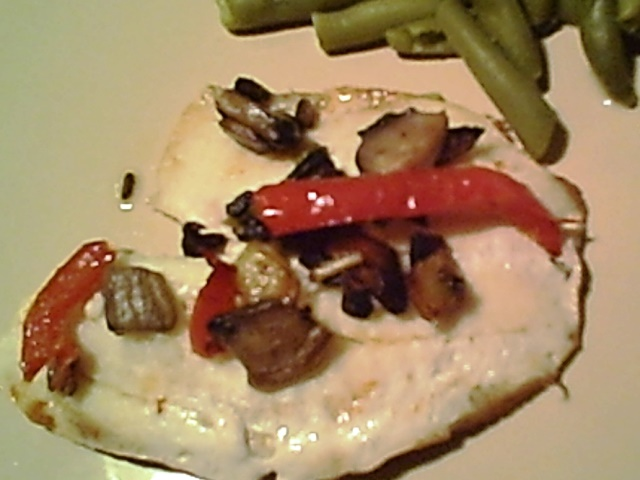 Tilapia Fillets, Broiled, With Portobello Mushrooms and Peppers - Gluten-Free