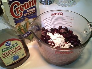 Blueberry Pie Filling with Cornstarch & Agave Nectar