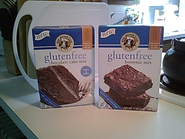 King Arthur Flour Gluten-Free Brownie Mix and Chocolate Cake Mix