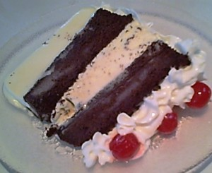 King Arthur Flour Gluten-Free Chocolate Cake -- Ice Cream Cake