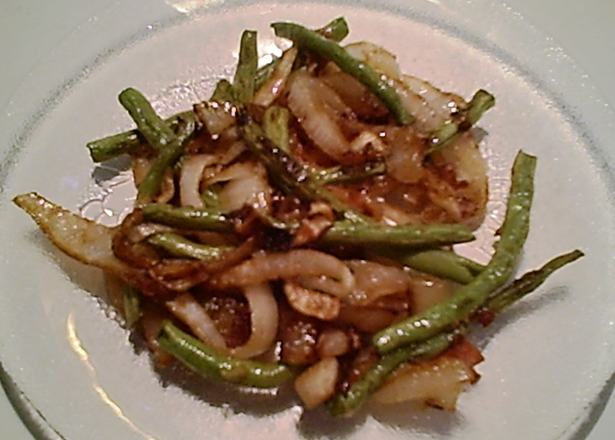Sauteed Onions and Green Beans – Gluten-Free
