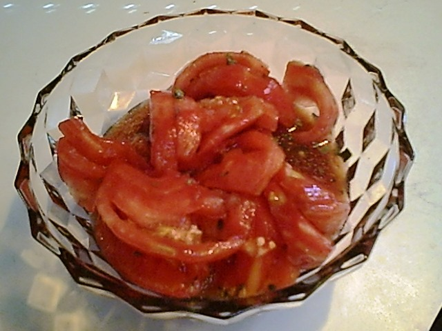 Tomatoes in Chive Vinaigrette
