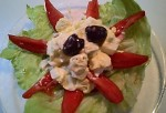 Egg Salad on Tomato Star