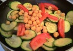 Garbanzos, Zucchini and Tomatoes Sauteed - Seasoned or Not