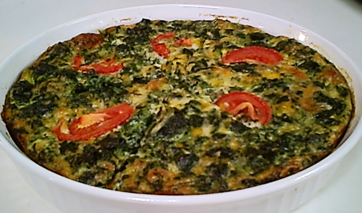 Spinach, Cheddar and Monterey Jack Quiche – Gluten-Free and Low Carb