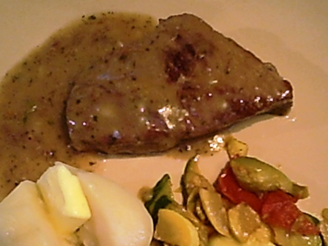 Beef Steak Braised with Mustard Gravy