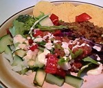 Taco Salad on Spring Salad Mix