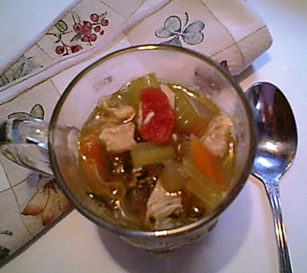 Chicken Vegetable Soup with Spinach, Gluten-Free