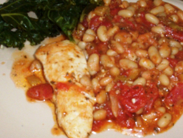 Gluten-Free Chicken with Tomatoes and Cannellini Beans