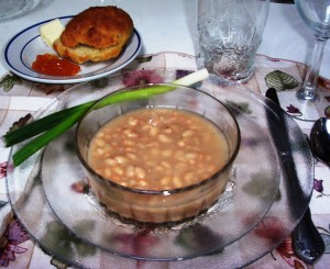 Navy Bean Soup -- Gluten-Free and Casein-Free