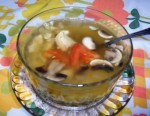 Chicken Soup with Mushroom and Onion