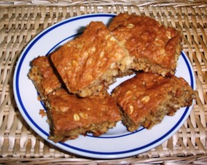 Oatmeal Raisin Walnut Bars - Gluten-Free