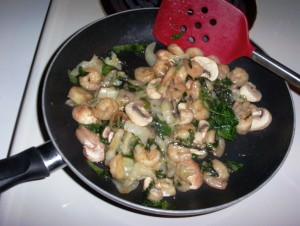 Shrimp Stir-Fry with Bok Choy, Mushrooms and Spinach -- Gluten-Free