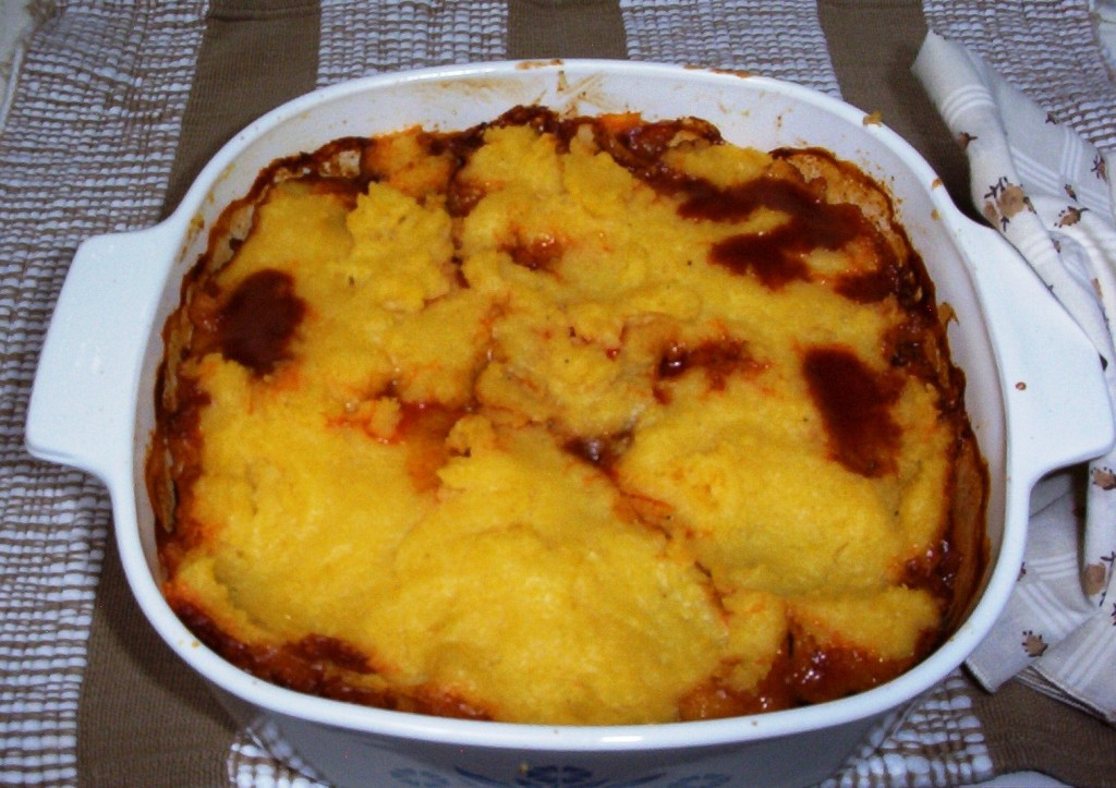 Gluten-Free Tamale Pie Hot from the Oven
