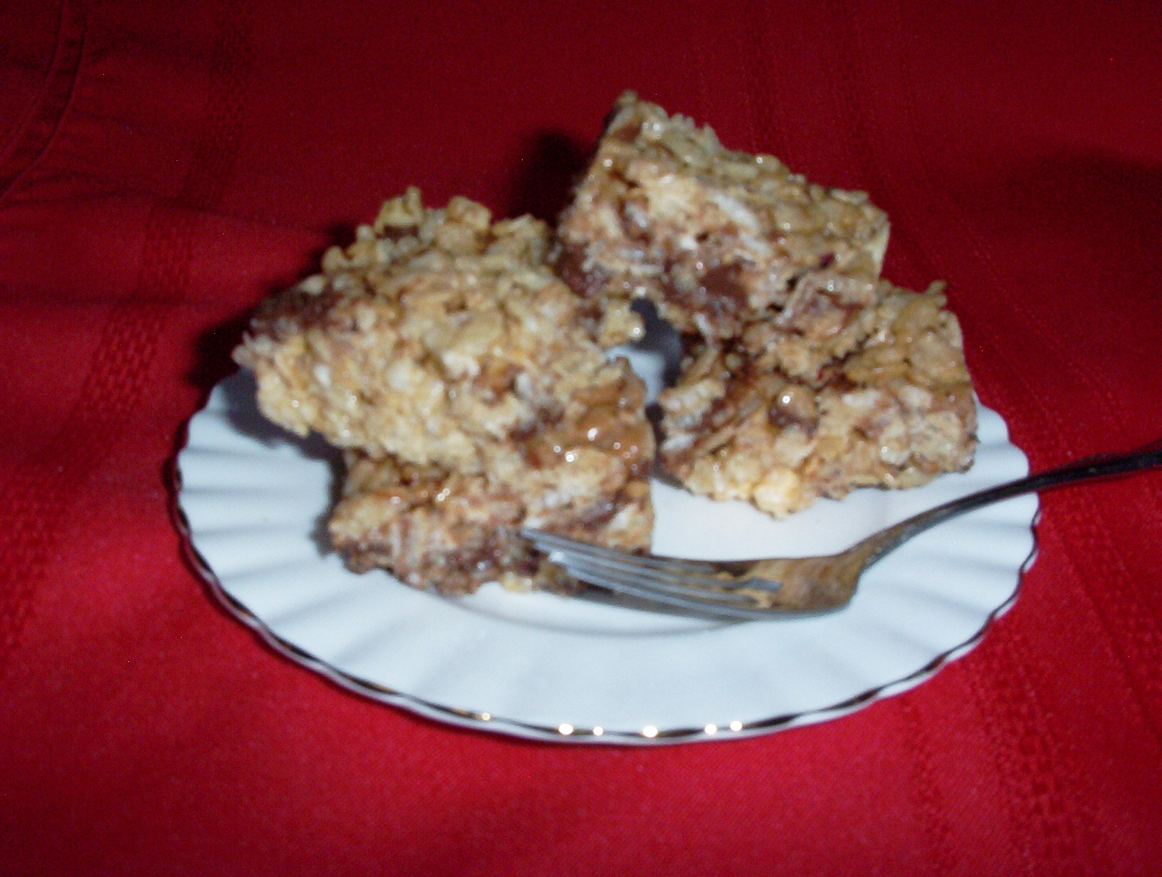 Gluten-Free Marshmallow Crispy Treats Dressed Up a Little - Also Casein-Free