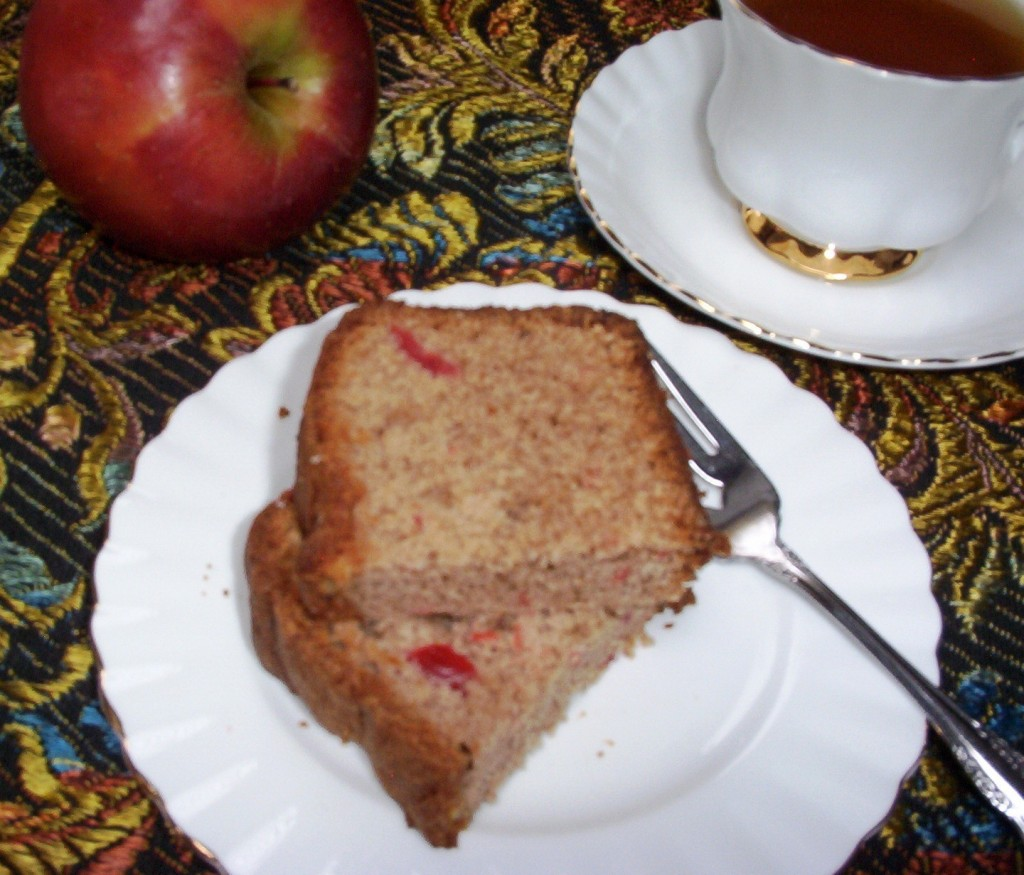 Applesauce Cake with Cherries and Walnuts