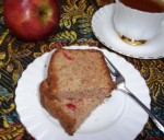 Gluten-Free Applesauce Cake with Cherries and Walnuts