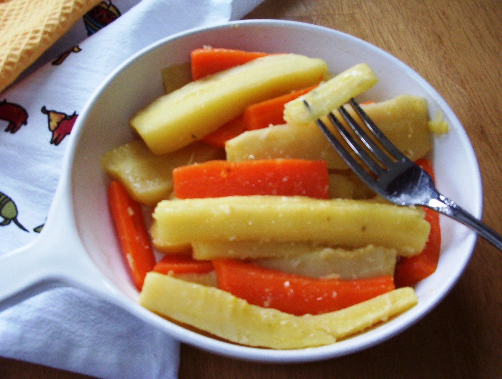 Gluten-Free Carrots and Parsnips with Horseradish