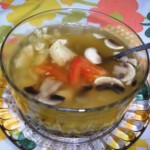 Gluten-Free Chicken Soup with Mushroom and Onion