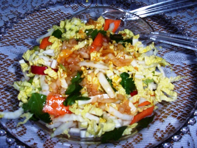 Napa Cabbage Slaw with Red Wine Vinaigrette