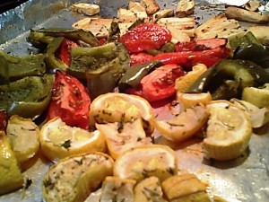 Gluten-Free Roasted Parsnips, Peppers, Squash, Tomatoes