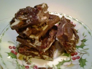 Gluten-Free Almond Bark with Dried Cranberries