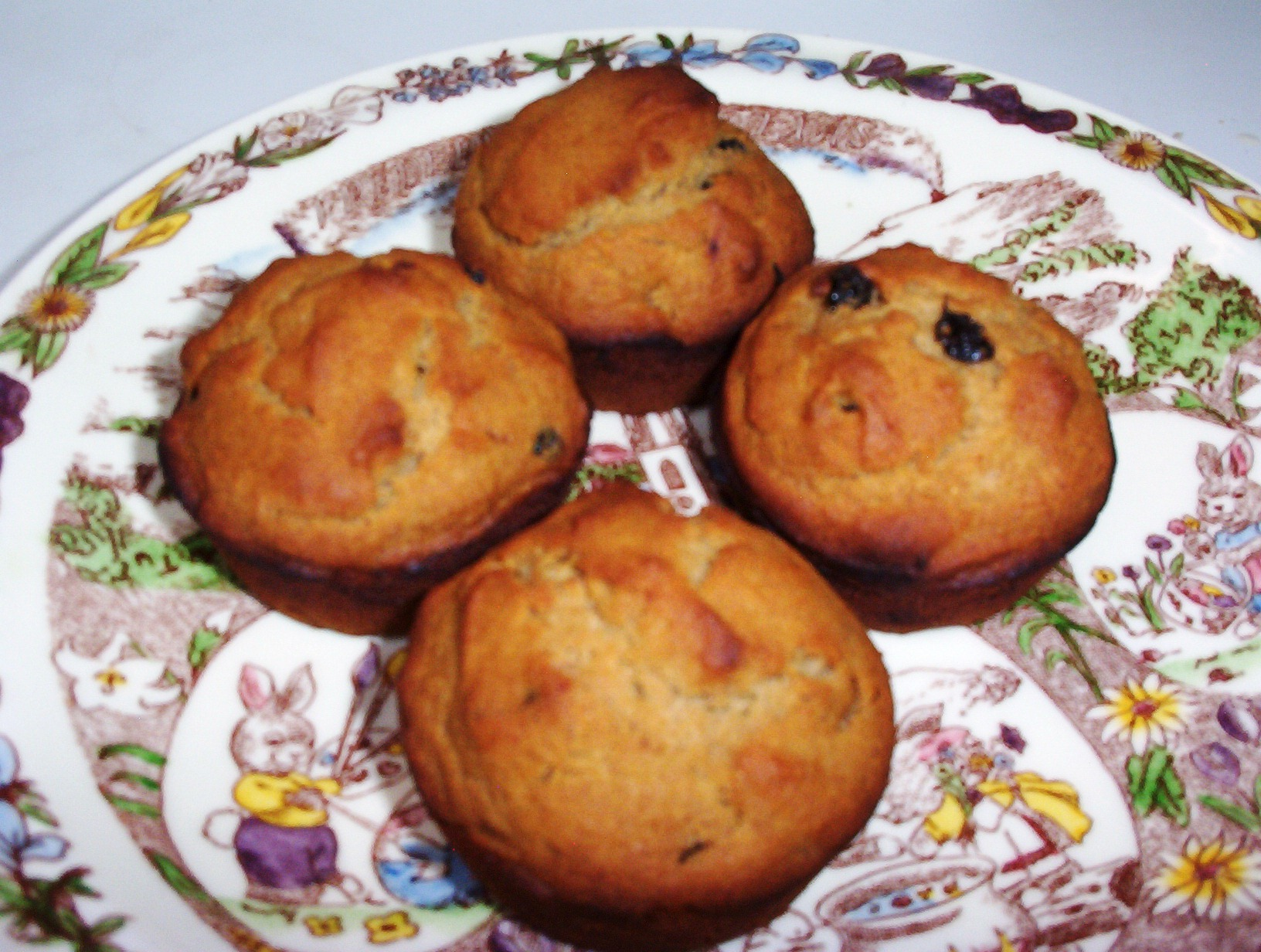 Applesauce Nut Muffins with Honey – Gluten-Free