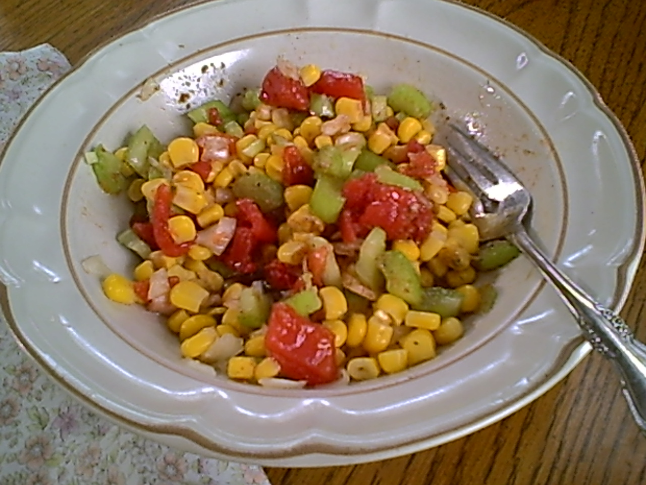 Corn, Tomato, Celery and Onion Salad – Gluten-Free