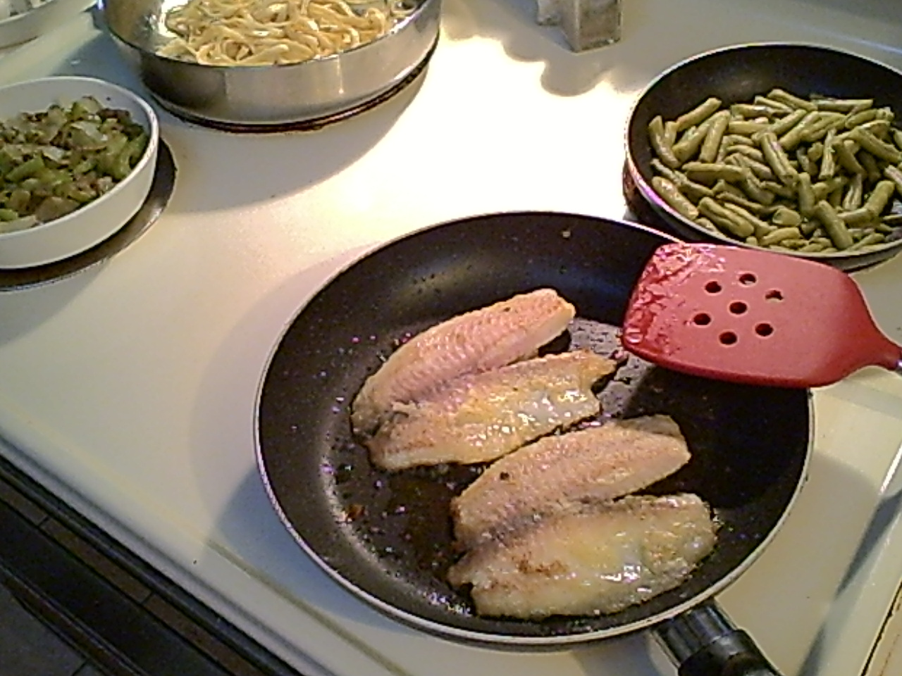 Gluten-Free Pan-Grilled Tilapia with Several Sides