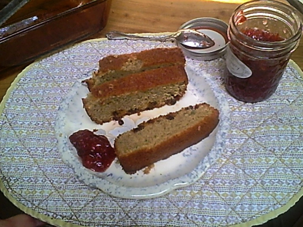 Gluten-Free Zucchini Bread with a Little Jam
