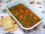 Gluten-Free Lentil Soup with Carrots, Celery and Onion