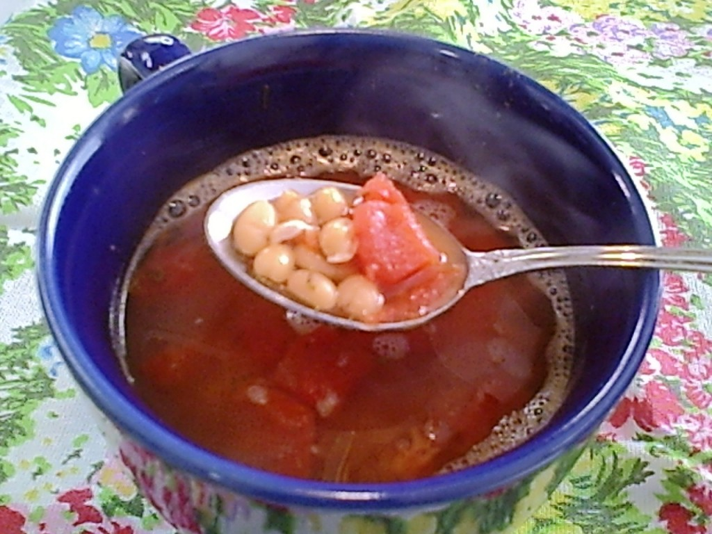 Gluten-Free Tomato Bean Soup, Quick and Easy