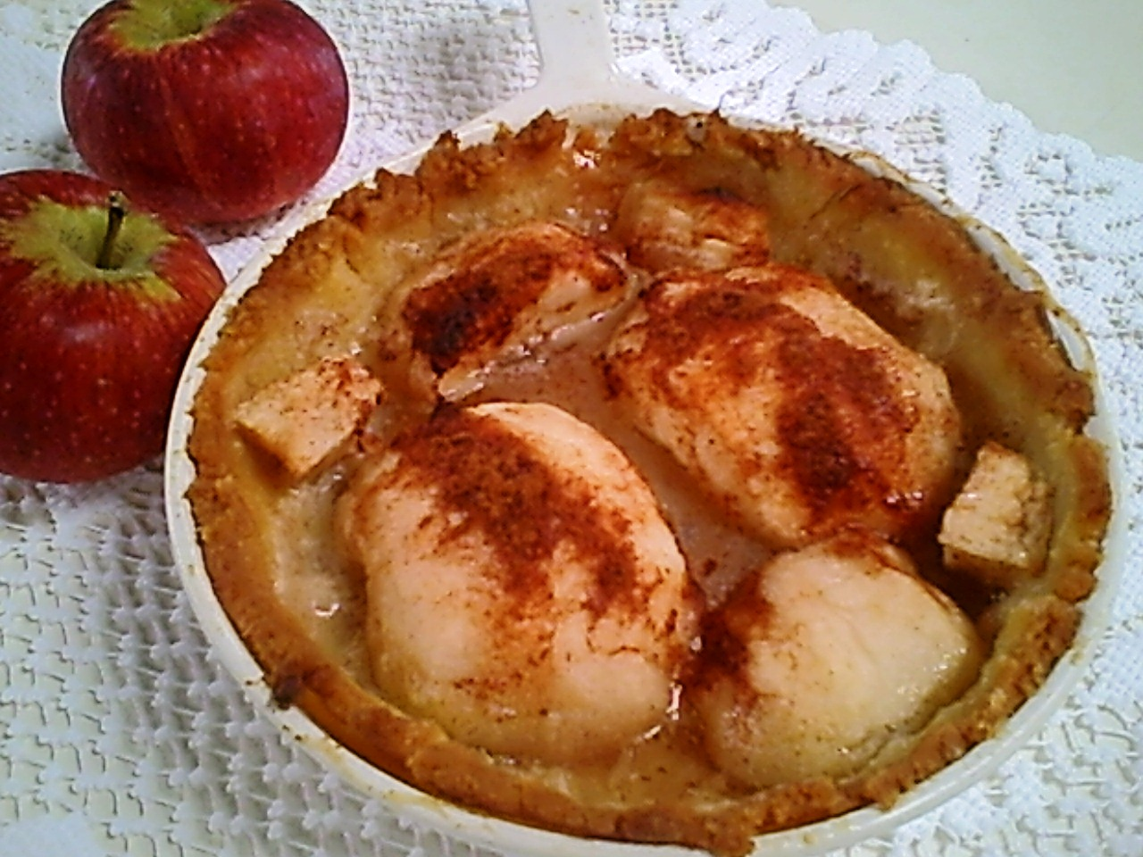 Pennsylvania Dutch Apple Tart with Gluten-Free Pie Crust