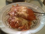 Boneless Pork Chops with Red Sauce and Pasta