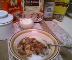 Rice Grits for a Whole Grain Cereal with Brown Sugar, Cinnamon and Currants