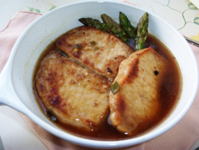 Braised Pork Loin with Green Onion