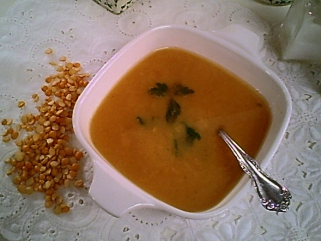 Yellow Split Pea Soup with Parsley