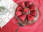 Flourless Chocolate Cake with Fresh Strawberries