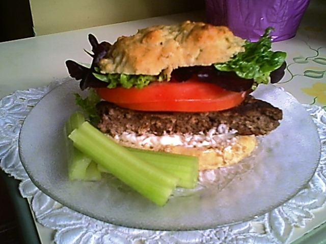 Hamburger with Dill Sauce or Horseradish Sauce