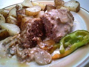 Gluten-Free Diet Menu Plan for the Week Features Mini-Meat Loaves with Mushroom Sauce & Potatoes