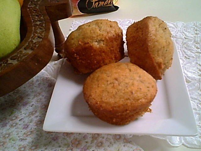 Walnut Muffins with Dried Fruit Bits