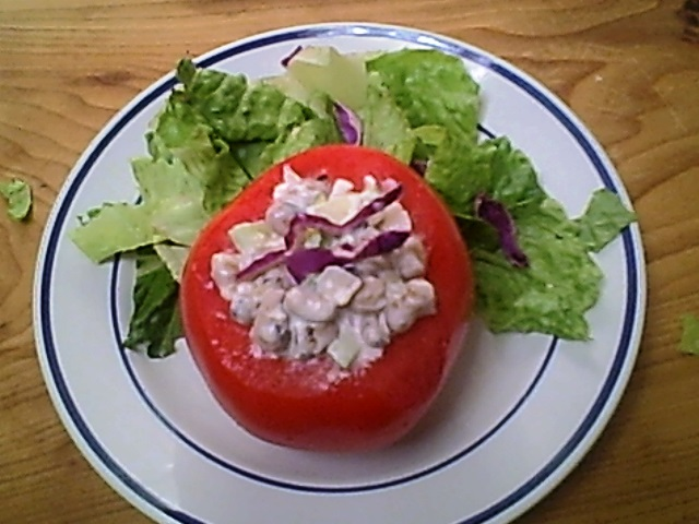 Blackeyed Pea Salad Stuffed Tomato